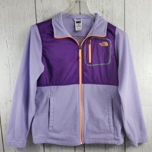 The North Face Sweater Full Zip Purple Girls XL